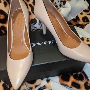 Coach nude heels